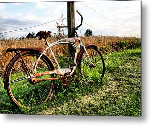 Bike Metal Print featuring the photograph Forgotten Bicycle by Doug Hockman Photography