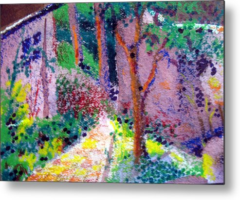 Aceo Metal Print featuring the painting Garden Tour by Bill Meeker