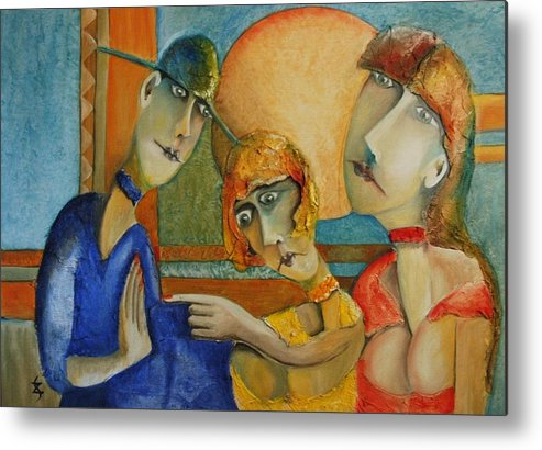 Portrait Paintings Metal Print featuring the painting The Guilty by Gyorgy Szilagyi