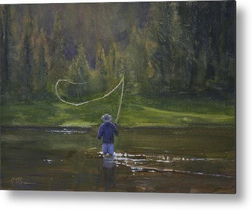 Water Metal Print featuring the painting Time Well Spent by Joe Mancuso