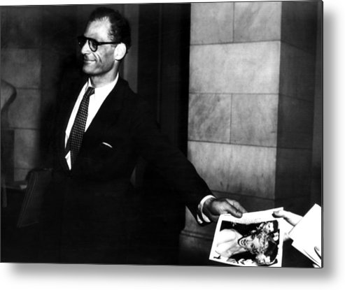 Metal Print featuring the photograph Arthur Miller, 1915-2005, American by Everett
