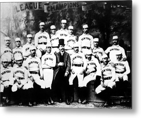 1880s Portaits Metal Print featuring the photograph New York Giants, Baseball Team, 1889 by Everett