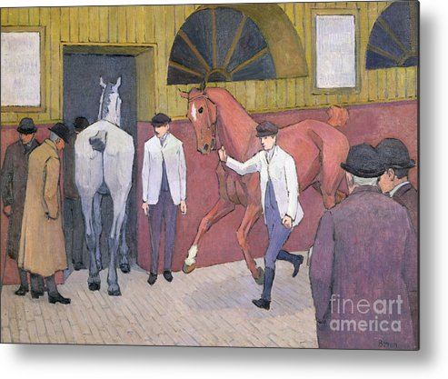 Xyc153932 Metal Print featuring the photograph The Horse Mart by Robert Polhill Bevan