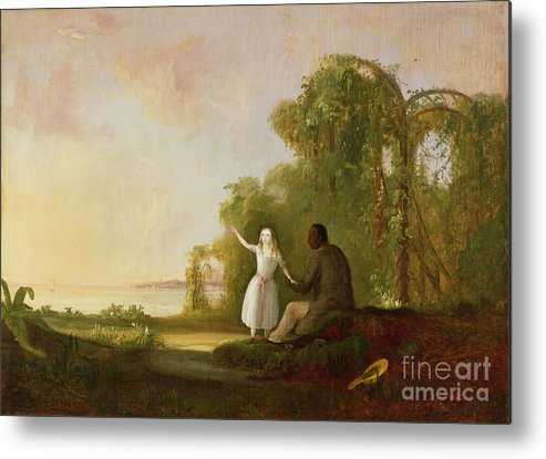 Uncle Metal Print featuring the painting Uncle Tom And Little Eva by Robert Scott Duncanson