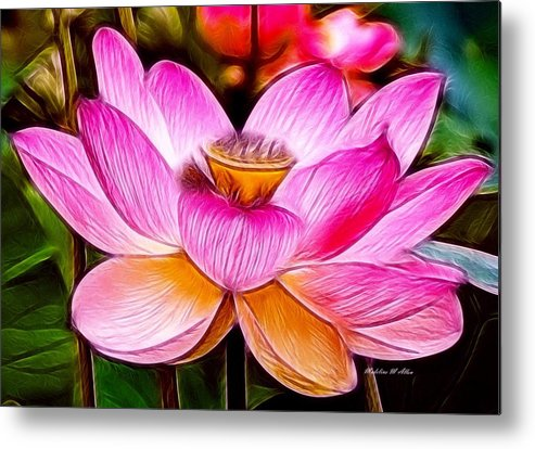 Smudgeart Metal Print featuring the digital art Baby Pink Lotus by Madeline Allen - SmudgeArt