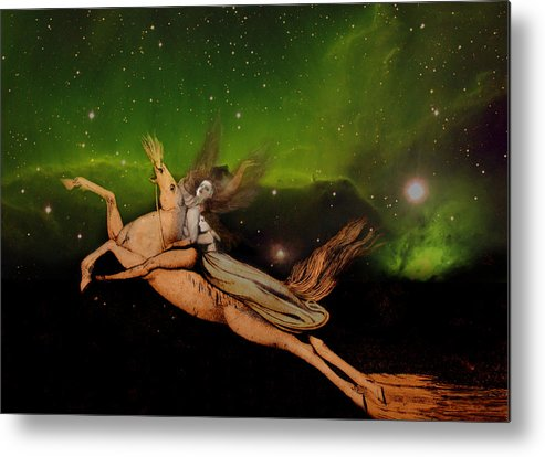 William Blake Metal Print featuring the digital art Beyond1 by Henriette Tuer lund