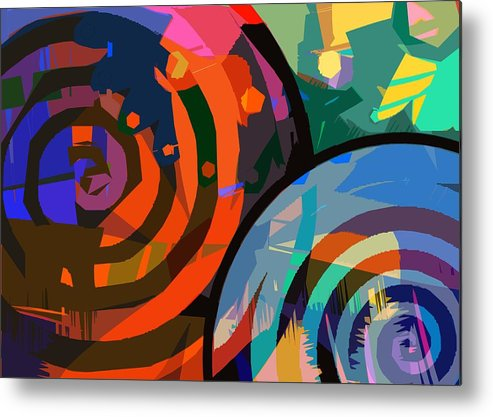 Mikecressy Metal Print featuring the digital art Ca Plane Pour Moi by Mike Cressy