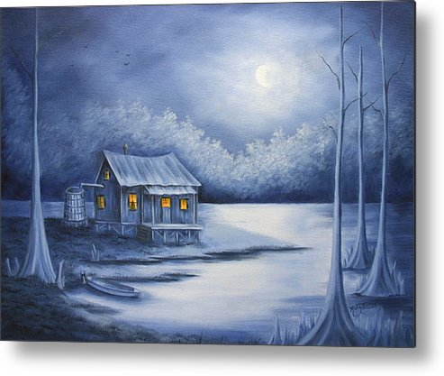 Seascape Metal Print featuring the painting Cajun Christmas by Ruth Bares