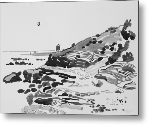 Coast Metal Print featuring the drawing Coastline Of The Spain by Vitali Komarov