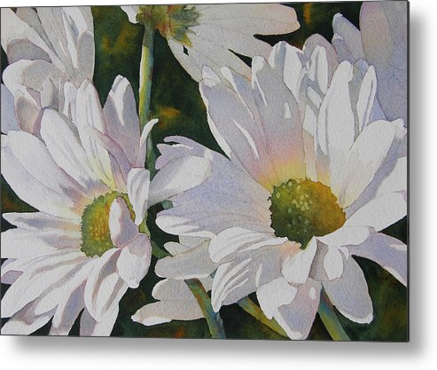 Daisy Metal Print featuring the painting Daisy Bunch by Judy Mercer