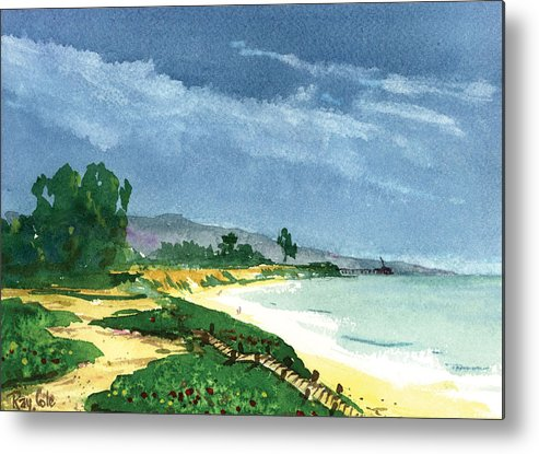 Steps To The Beach Metal Print featuring the painting Down To The Beach by Ray Cole