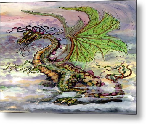 Dragon Metal Print featuring the painting Dragon by Kevin Middleton