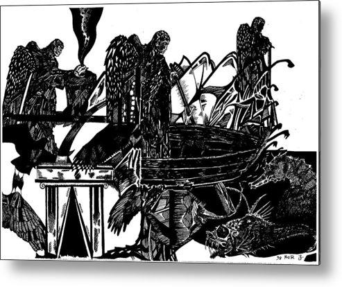 Mystic Art Metal Print featuring the drawing Dream by Jonatan Kor
