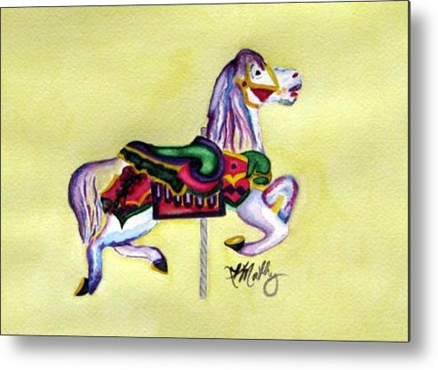 Horse Metal Print featuring the painting Fancy by Karla Mathey