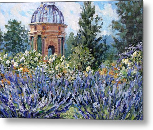 Provence France Metal Print featuring the painting Garden Profusion - Lavendar by L Diane Johnson