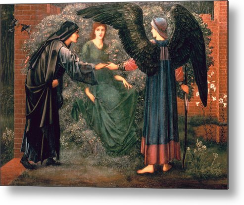Heart Metal Print featuring the painting Heart Of The Rose by Sir Edward Burne-Jones