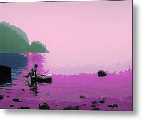 Landscape Metal Print featuring the photograph Into The Stillness - Pink by Lyle Crump