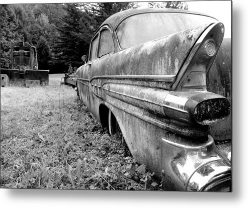 Black And White Metal Print featuring the photograph Memory Lane 2 by Jennifer Owen