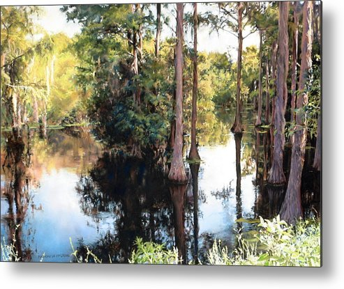 River Metal Print featuring the painting Morning On The River by Marion Hylton