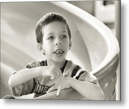 Street Photography Metal Print featuring the photograph Playground Physics by Bob Orsillo