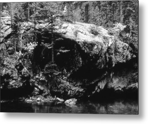 Landscape Metal Print featuring the photograph Quiet River by Allan McConnell