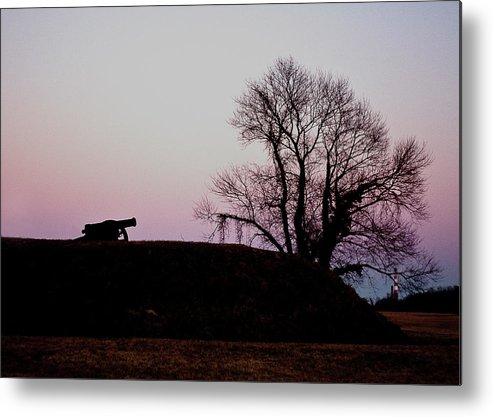 Cannon Metal Print featuring the photograph Redoubt by Sam Smyth