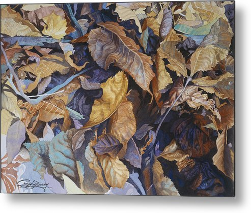 Autumn Metal Print featuring the painting Shadowland by Craig Gallaway