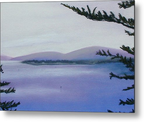 Landscape Metal Print featuring the painting Sunday Morning Bodega Bay California by Gary Jameson