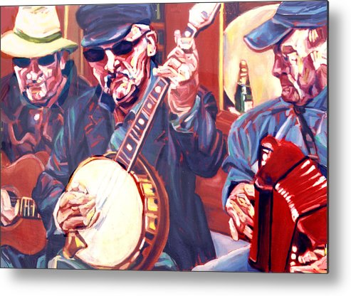 Buskers Metal Print featuring the painting The Buskers by Ellen Lefrak