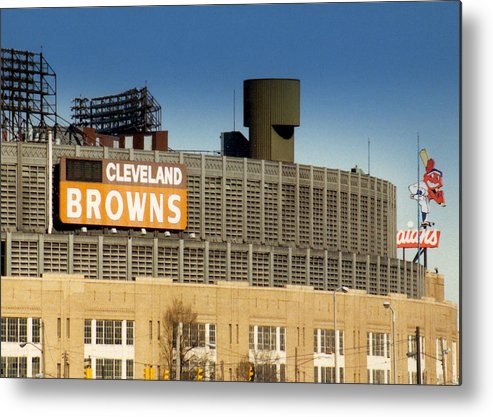 Cleveland Metal Print featuring the photograph The Hometeams In Color by Kenneth Krolikowski