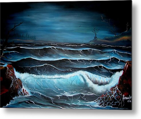 Landscape Metal Print featuring the painting The Rage by Glory Fraulein Wolfe