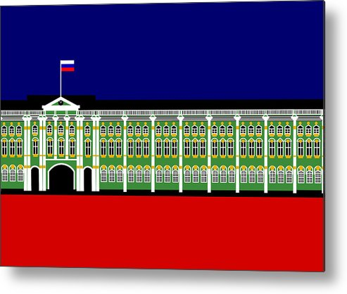 Winter Palace Metal Print featuring the digital art The Winter Palace Inspiration St Petersburg Russia by Asbjorn Lonvig