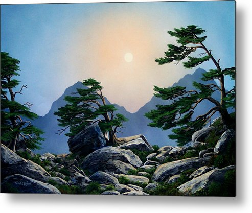 Timberline Guardians Metal Print featuring the painting Timberline Guardians by Frank Wilson