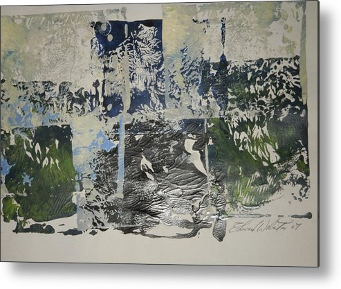Abstract Metal Print featuring the painting Treasure Island by Edward Wolverton