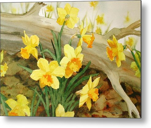 Spring Metal Print featuring the painting First Signs Of Spring by Faye Ziegler