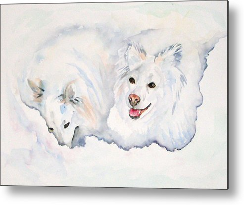 Canine Metal Print featuring the painting Numa And Amari by Gina Hall