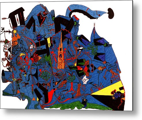 Abstract Metal Print featuring the print Vision Quest by William Watson