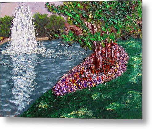 Fountain Metal Print featuring the painting Wrsp August by Stan Hamilton