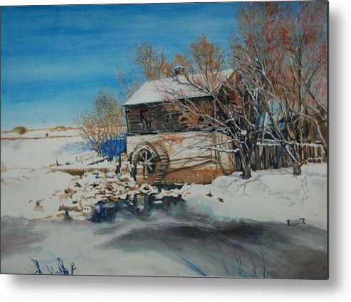 Mill Metal Print featuring the painting Grants Old Mill by Susan Moore