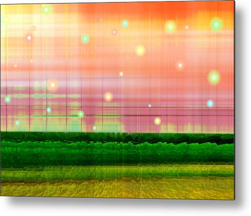 Abstract Metal Print featuring the digital art Sweet Tuesday Morning by Wendy J St Christopher