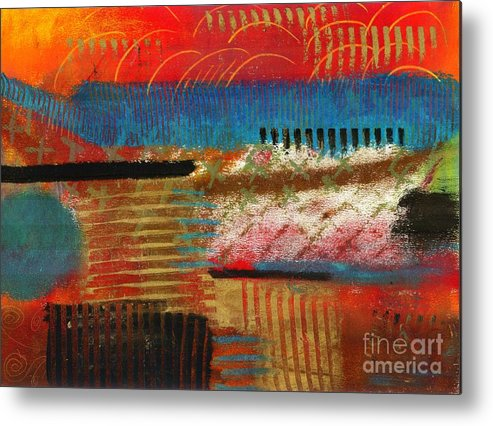 Self Discovery Metal Print featuring the painting Finding My Way by Angela L Walker