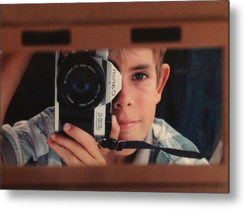 Self Metal Print featuring the photograph First Self-portrait by David Paul Murray