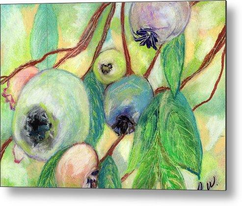 Blueberries Metal Print featuring the painting Blueberries by Pamela Wilson