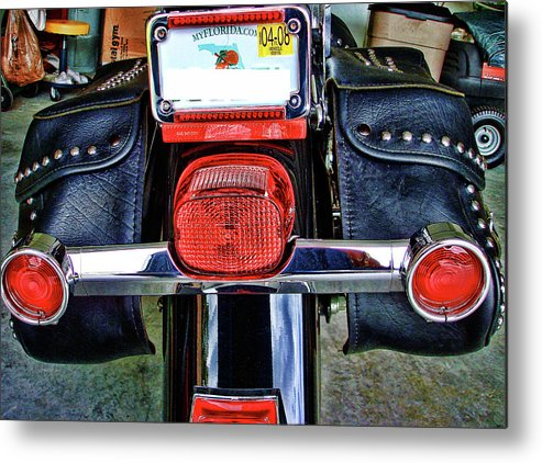 Harley. Motorcycle Metal Print featuring the photograph Harley Heritage Anniversary by Francesco Roncone