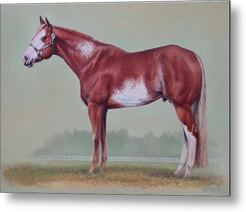 Horse Metal Print featuring the painting Horse Portrait by Hans Droog