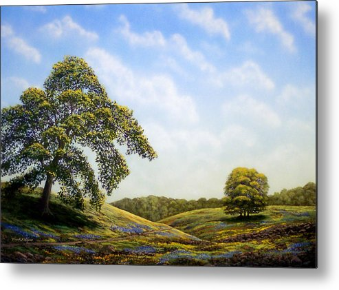 Landscape Metal Print featuring the painting In Bloom by Frank Wilson