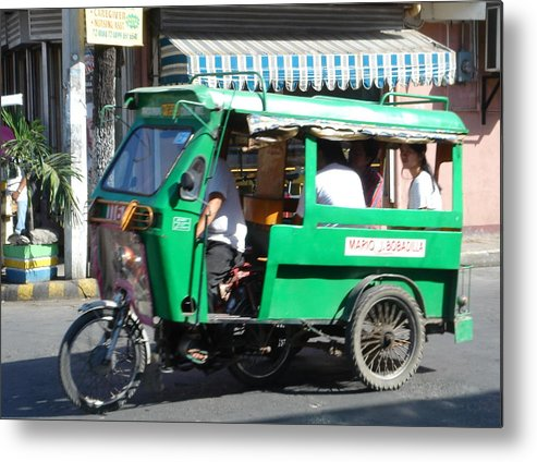 Jeepney Metal Print featuring the photograph Jeepney 03 by Mike Holloway