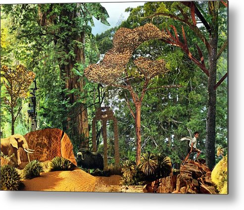 Forest Metal Print featuring the mixed media Nymph Forest by Doug Hiser