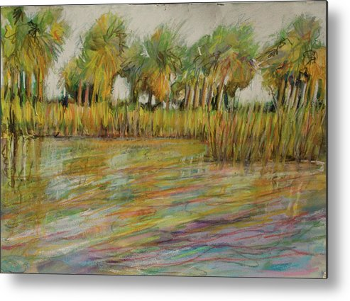 Palms Metal Print featuring the painting Pastel Palms by Michele Hollister - for Nancy Asbell