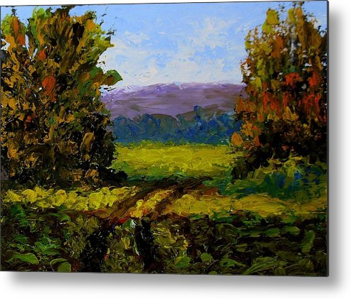 Landscape Metal Print featuring the painting Patch Of Sunlight by Fred Wilson
